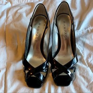 Rampage Shoes - Black cut-out heals